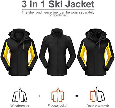 QUEENIEKE Ski Jacket Waterproof Windproof Coat 2in1 Full Zip Jacket for Women 20113