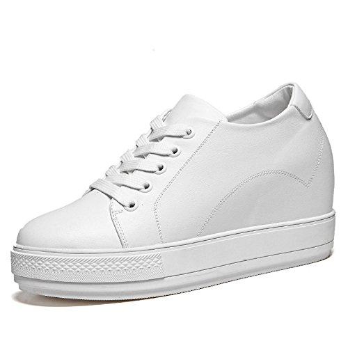 De Zapatos Una Primavera Aumentando De Estudiantes Versión De Moda Y Zapatos De De Nuevos AJUNR Wild Con Los De Verano Coreana La Zapatos Mujer Los Mujer Blancos 37 Blanco Zapatos Mujer De 38 Base Plana xqHCp086w