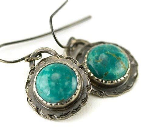 Kingman Turquoise Sterling Earrings