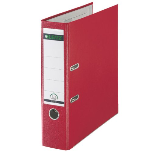 Leitz Lever Arch File Plastic 80mm Spine A4 Red Ref 1010-25 [Pack of 10] by Leitz (Image #1)