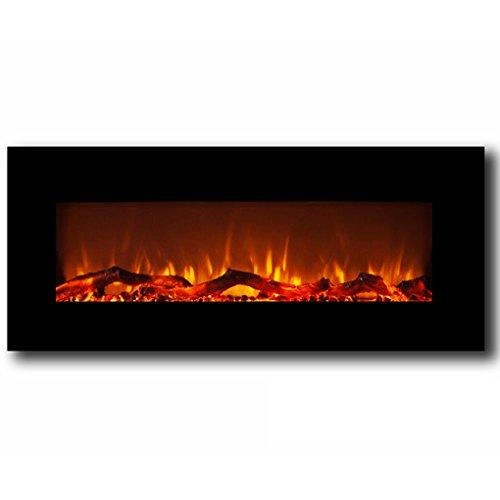 "MFE5050BK Houston 50"" Electric Wall Mounted Fireplace - Black"