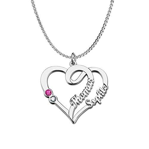 Birthstone Heart Necklace - 7