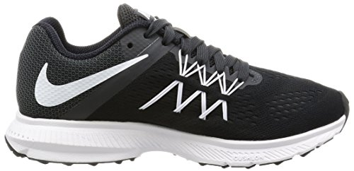 Nike Women's WMNS Zoom Winflo 3 Running Shoes, Black Black (Black / White / Anthracite 001)