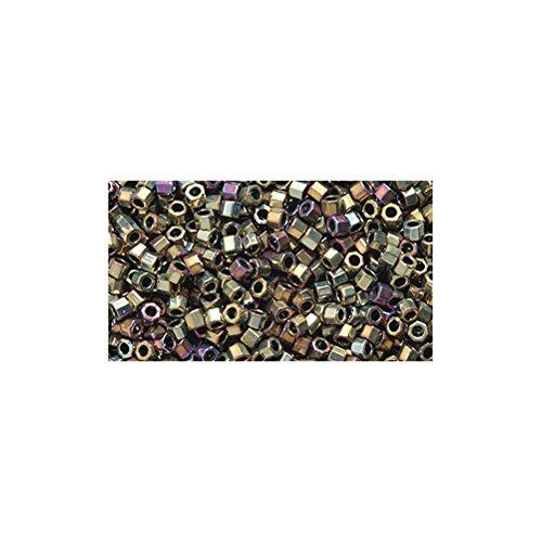 Miyuki Delica Hex Seed Bead 11/0 DBC0029, Purple Gold Iris, 9-Gram/Pack ()