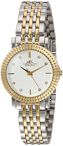 Adee Kaye Women's Japanese-Quartz Watch with Stainless-Steel Strap, Two Tone, 14 (Model: AK4801-LTTG