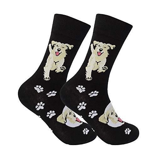 Funatic: Golden Retriever Socks - Golden Retriever Apparel - Golden Retriever Lover - Dog Lover - Dog Owner Clothing - Funny Dress Socks For Men - Funny Dress Socks For Women - Dog Owner Gift (Golden Presents Retriever)