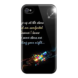 Awesome Design Long Distance Lovers Hard Case Cover For Iphone 4/4s