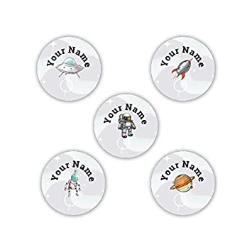 Superheroes Theme Personalized Waterproof No-Sew Laundry Safe Stick-on Label Dots for Clothing