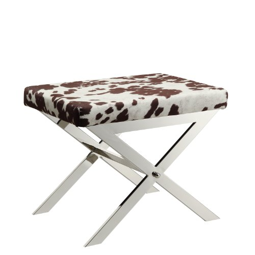 kingsbury-home-versailles-contemporary-cow-hide-fabric-x-base-vanity-stool-chrome-finish