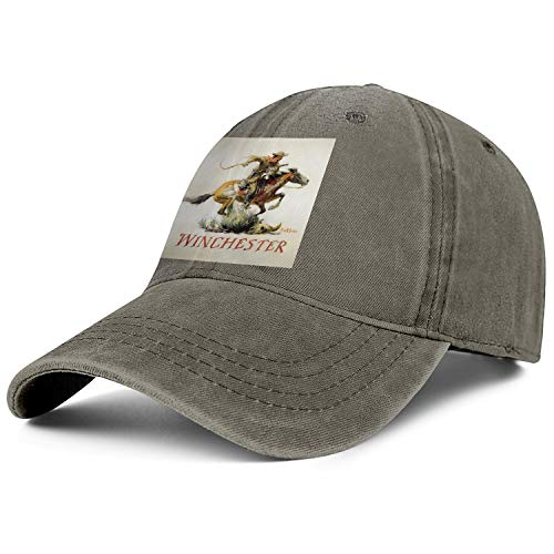 Men Women Cowboys Cap Winchester Repeating Arms Logo Retro Athletic Rugged Jeans Hats ()