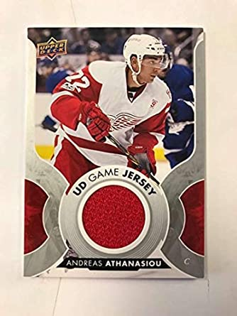 free shipping 33c0a 85957 Amazon.com: 2017-18 Upper Deck Game Jersey #GJ-AT Andreas ...