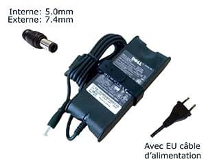 Lavolta-Adaptador de corriente alterna para Dell NF642 nx061 N2765 N2768-Power-Ordenador portátil (TM) de marca () con enchufe europeo