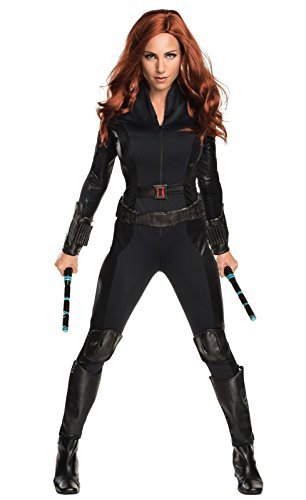 Secret Wishes Women's Captain America: Civil War Widow Costume, Black, Medium (Ladies Captain America Costumes)