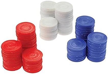 Poker Chips Red-White /& Blue 300