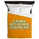 CafePress - I Don't Get Older I Level Up - Queen Duvet Cover, Printed Comforter Cover, Unique Bedding, Microfiber