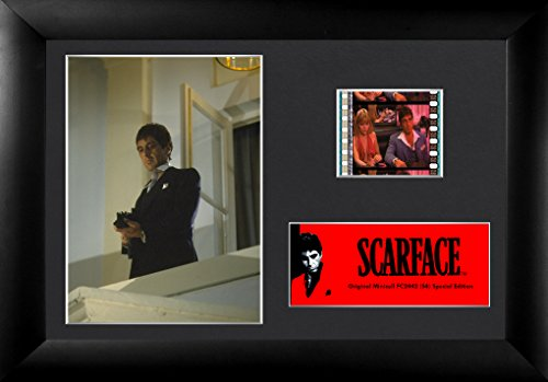 (Scarface (Tony Montana – Suit and Gun) Authentic 35mm Film Cells Special Edition Display)