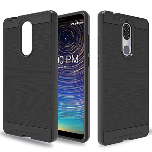 Wtiaw for:Coolpad Legacy Case,Coolpad Legacy Phone Case,[TPU+PC Material] [Brushed Metal Texture] Hybrid Dual Layer Defender Case for Coolpad Legacy-CL ()