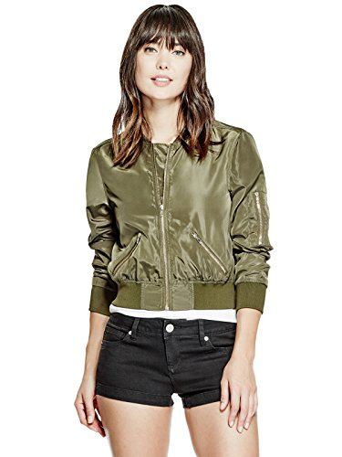 GUESS-Womens-Londyn-Satin-Bomber