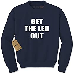 Crew Get The Led Out Adult Large Navy Blue