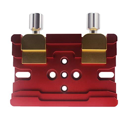 Astromania 150mm Deluxe Vixen/Losmandy Clamp - Solid Aluminium Prism Rail with 2 Aluminium Locking Screws and W/Brass Screws