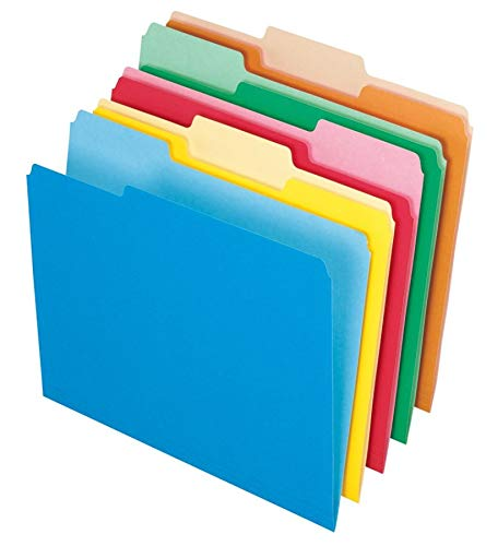 Office Depot File Folders, Letter, 1/3 Cut, Assorted Colors, Box of 100, 97666 from OfficeMax