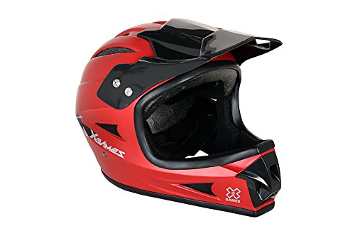 X Games Youth Full Face Helmet, Satin Red