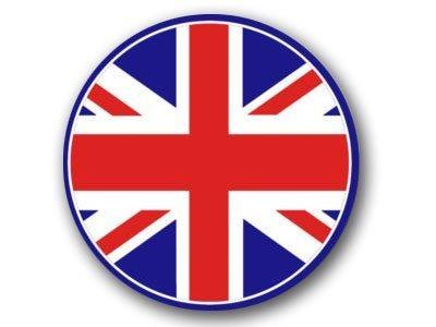 MAGNET ROUND Union Jack Flag Magnetic Sticker (UK British)