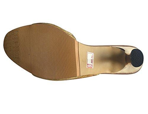 Étape N Style Femmes en cristal de soirée sandale chaussure fait main Khussa mojari