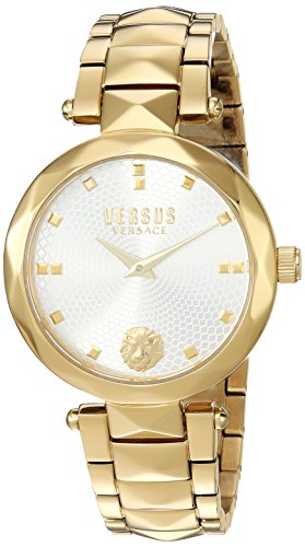 Versus by Versace Women's 'COVENT GARDEN' Quartz Stainless Steel and Gold Plated Casual Watch(Model: SCD110016)