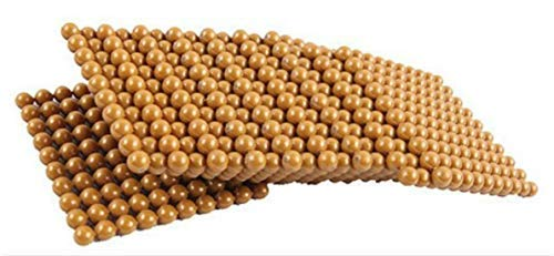 DANNI Montessori Kids Toy Baby Wood Golden Beads Game Learning Educational Preschool Training Math Count Beaded Teaching Aids
