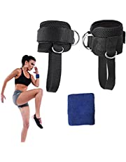 MeevMighx Ankle Straps for Cable Machines, Gym Padded Ankle Cuffs with Adjustable Neoprene, for Men & Women Doing Fitness Glute & Leg Workouts, Kickbacks to Lift The Butts