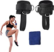 MeevMighx Ankle Straps for Cable Machines, Gym Padded Ankle Cuffs with Adjustable Neoprene, for Men & Wome