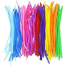Mydio 200 Pack 12 inch Chenille Colored Pipe Cleaners for Arts and Crafts,Random Color
