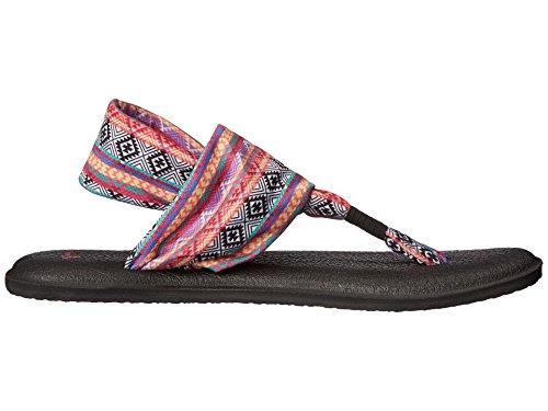 Prints Women's Magenta Sandal 2 m 10 Stripe Sanuk multi Black Yoga Us B multi Tribal Sling magenta dFnqwnfI