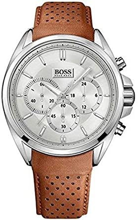 755cc0038a18 Amazon.com: Hugo Boss 1513118 Men's Chronograph Driver Watch, Brown ...