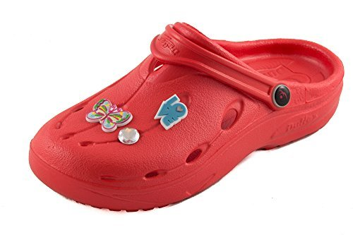 Chung Shi - Zuecos de goma para mujer Rojo