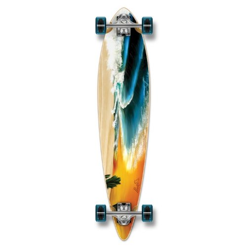 Special Graphic Complete Longboard PINTAIL skateboard w/ 70mm wheels (Beach)