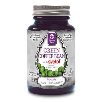 Genesis Today Green Coffee Bean with Svetol Vegetarian Acceptable Not Certified Kosher - 60 Vegetarian