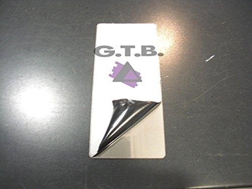 stampa uv ultra violetti 18 x 8 cm con kit velcro incluso taglio laser tuning pedana poggiapiede acciaio inox
