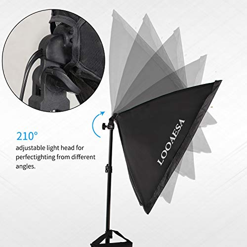 1350W Photography Lighting Softbox Lighting Kit Continuous Photo Video Lighting System with Sandbag and 5500K Bulb 20''X28'' Professional Studio Lights Equipment for Youtube Filming Portraits by LOOAESA by LOOAESA (Image #1)