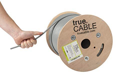 Cat6 Shielded Riser (CMR), 500ft, Gray, 23AWG Solid Bare Copper, 550MHz, ETL Listed, Overall Foil Shield (FTP), Bulk Ethernet Cable, trueCABLE