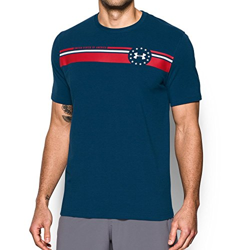 Under Armour Men's Freedom July 4th T-Shirt, Blackout Navy (997)/White, X-Large