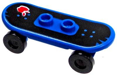 LEGO City Minifigure Parts Blue Skateboard with Apple [Loose]