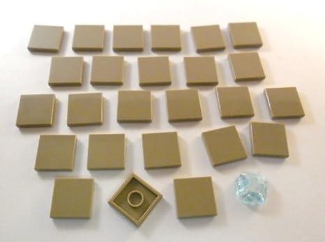 Lego city pezzi piastrelle piastra liscia nodi in beige