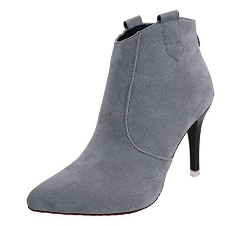 MEI Herbst Winter weibliche Stiefel Martin Stiefel Spitze fein mit Schuhen leichte Casual Stiefel , US7.5 / EU38 / UK5.5 / CN38