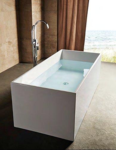 Vasca Da Bagno Rettangolare.Vasca Da Bagno Freestanding Rettangolare 170x75cm Polaris Con