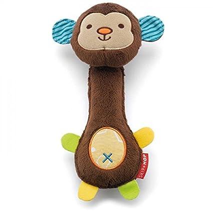 Monkey Baby Pet Dog Cat Plush Toy Soft Stuffed Animals Squeeze Me Rattle SIG