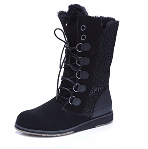 Emu EUR W11362 Lace UK Black Boots Up Wool 38 Sussex 5 Merino Hi rXPrSx