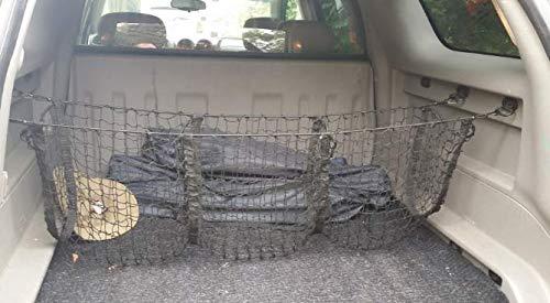 JessicaAlba Black Three-Pocket Storage Cargo Nets Car Trunk net Organizer Fit Chevrolet Tahoe LS LT PPV Premier SSV 2015 2016 2017 2018 JE-COWD000003W19