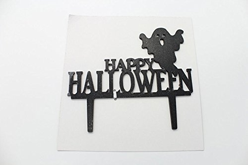 Party Cake Decoration Black Happy Halloween Acrylic Cake Topper